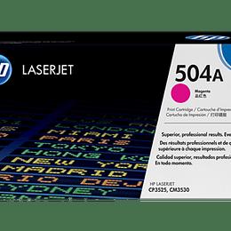 Toner impresora magenta 504A HP CE253A
