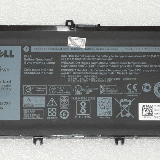 Batería Notebook DELL 71JF4 para Inspiron: 5576, 5577, 7557, 7559, 7566, 7567, 7759, 7000