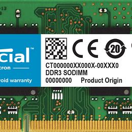 Memoria RAM Notebook CRUCIAL CT102464BF160B