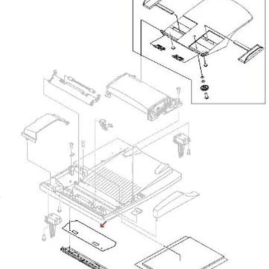 RB2-8793 HP Mylar : Clear Mylar sheet film guide