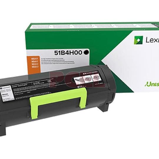 Toner Negro Lexmark 51B4H00 para MS/MX 417, 517, 617