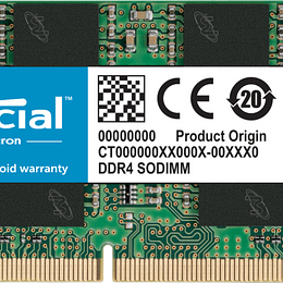 Memoria RAM Notebook CRUCIAL CT8G4SFRA266