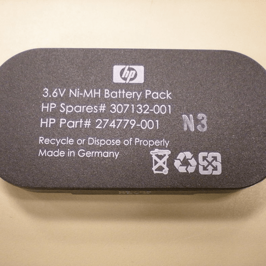 307132-001 HP HP 3.6V NiMH Battery for BBWC Option