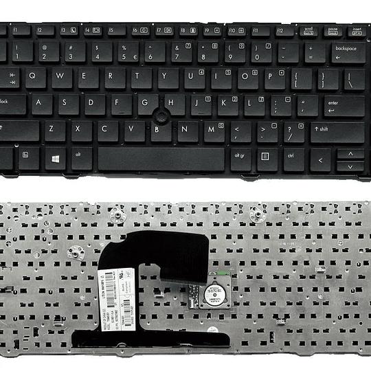 Teclado Notebook HP 641834-001 para EliteBook 8460b Notebook EliteBook 8460p Notebook EliteBook 8460