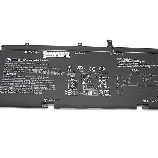 Batería Notebook HP 805096-005 para EliteBook Folio 1040 G3