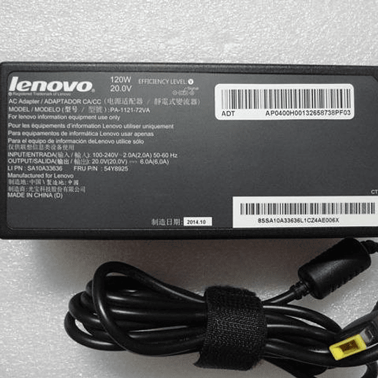 Cargador Notebook Lenovo PA-1121-72VA para B50-30 All-in-one (F0AW) C40-05 All-in-one (F0B5) C40-30