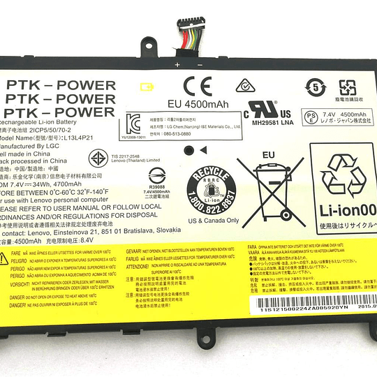Batería Notebook Lenovo L13L4P21 para IdeaPad Yoga 2 11
