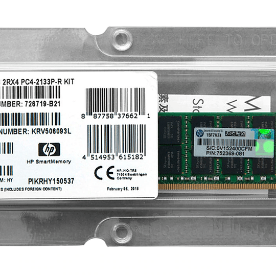 Memoria RAM para Servidor HP 726719-B21