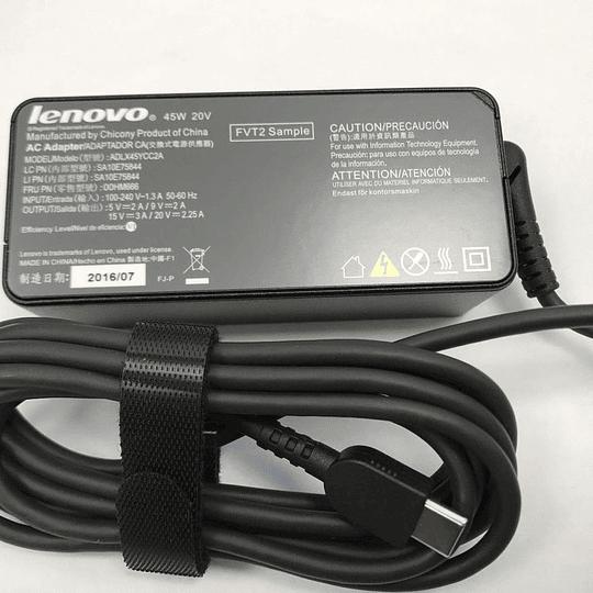 Cargador Notebook Lenovo ADLX45YCC2A para 100E Chromebook (81ER) 300E Chromebook (81H0) Ideapad 720S