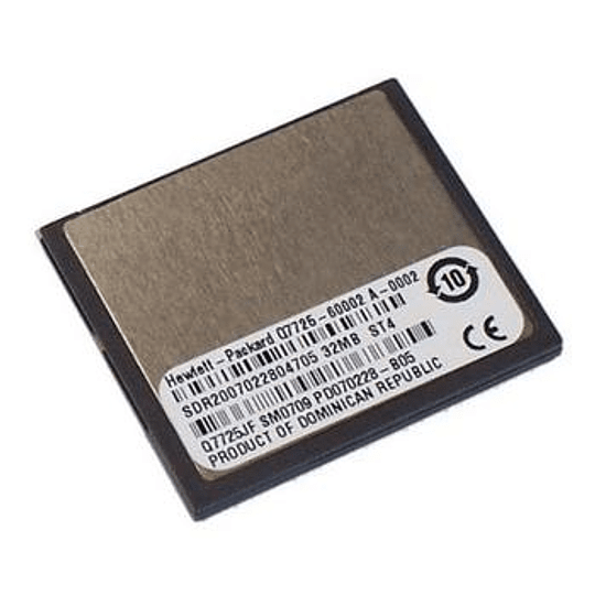 Q7725-67992 HP Compact Flash firmeware memory module