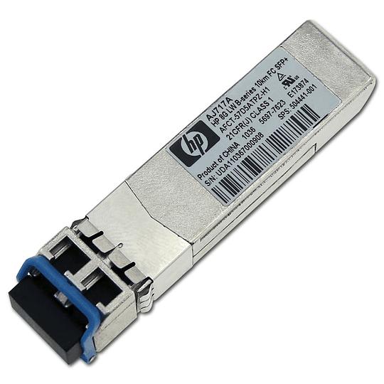 AJ717A HP Transceptor de Fibra Canal SFP+ de 8 gigabits