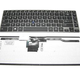 Teclado Notebook Toshiba NSK-V22BN para Tecra Z40, Z40A, Z40-AK01M, Z40-AK03M, Z40-AK05M
