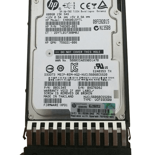 Disco duro para Servidor HP J9F42A