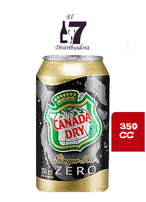 Canada Dry Zero Lata 350 CC Display 24 Unidades