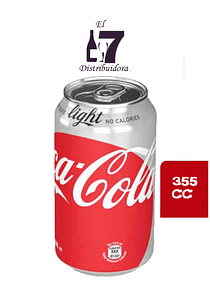 Coca Cola Light Lata 355 CC Display 24 Unidades