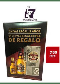 Chivas Regal 12 Años + Chivas Regal Extra 750 CC