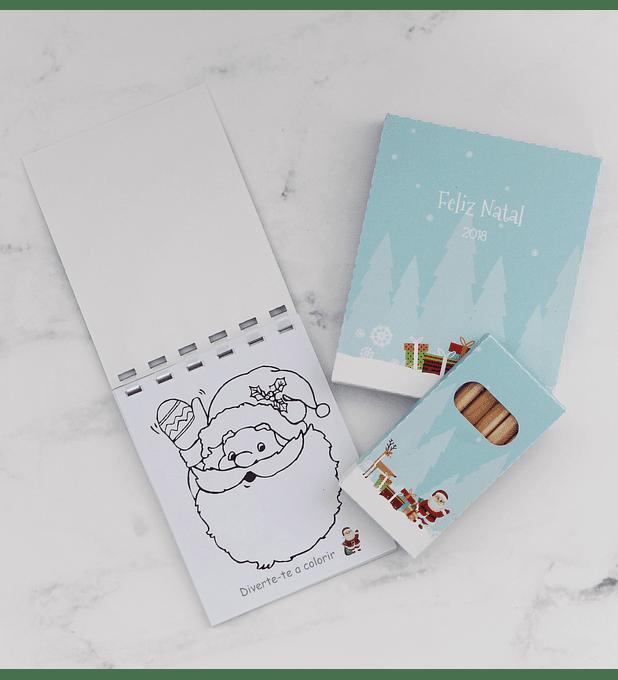 Conjunto para colorir Natal 2019