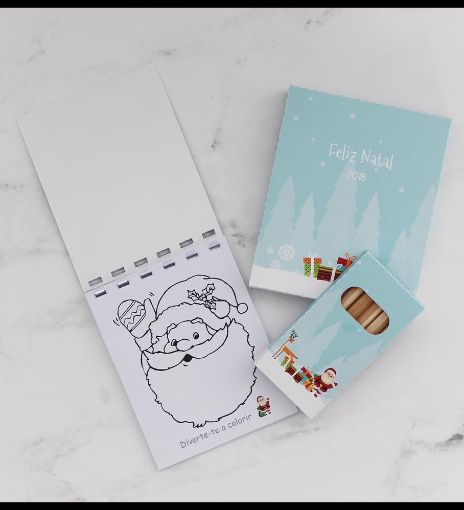 Conjunto para colorir Natal 2018