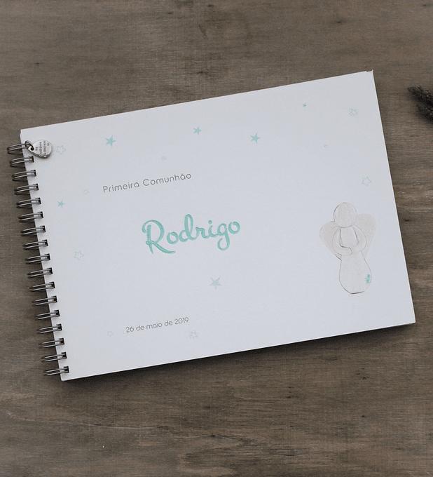 Caderno de mensagens com anjo da alegria