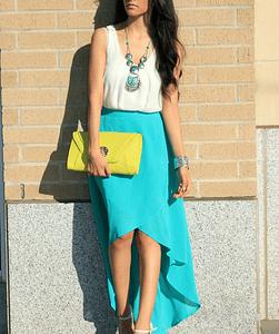 Long Skirt Turquoise