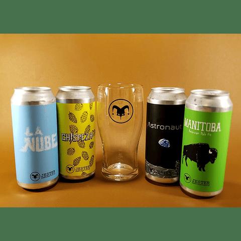 Pack Cervezas Jester + Vaso