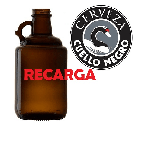 2 Lt Recarga Cerveza Cuello Negro Ámbar (de Barril)