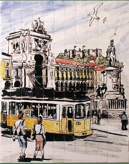 "Panel ""Lisboa com Elétrico"""