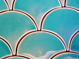 Fish Scale Tile, Moroccan Type