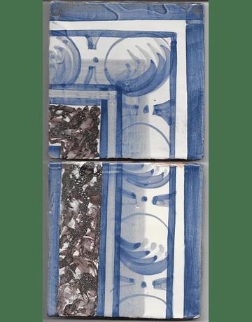 Azulejo para Restauro - Antigo Cercadura 12