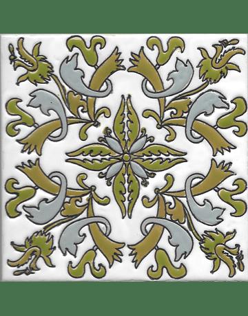 Handmade tile 14x14cm - Arganil