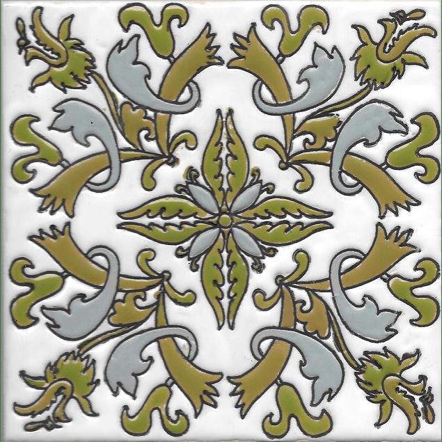 Azulejo artesanal 14x14cm - Arganil