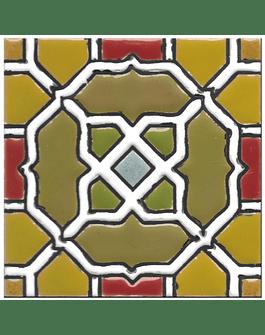 Azulejo artesanal 14x14cm - Hispano Arabe 2 - Cor A