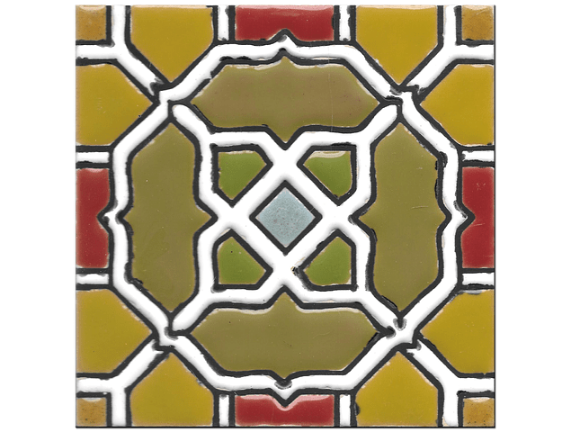Handmade tile 14x14cm - Spanish Arabic 2 - Color A