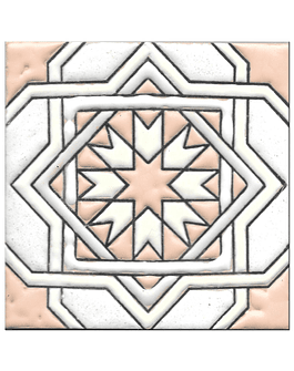 Azulejo artesanal 14x14cm - Hispano Arabe 3 - Cor A