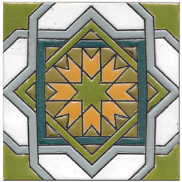Azulejo artesanal 14x14cm - Hispano Arabe 3 - Cor B