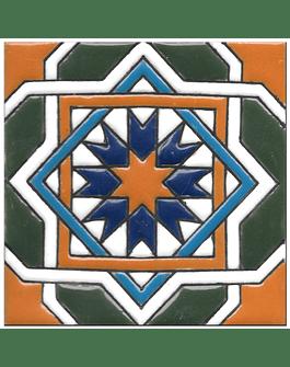Azulejo artesanal 14x14cm - Hispano Arabe 3 - Cor C