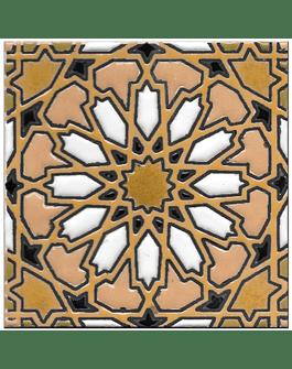 Azulejo artesanal 14x14cm - Hispano Arabe 4- Cor A