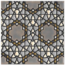 Azulejo artesanal 14x14cm - Hispano Arabe 5- Cor B