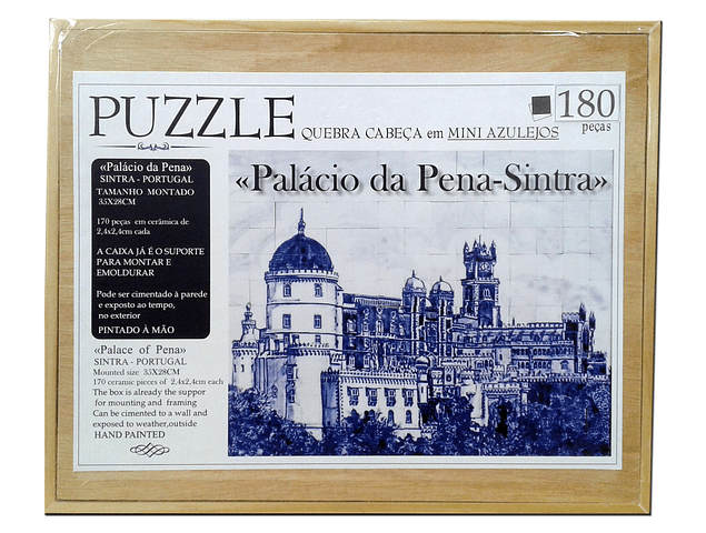 CERAMIC PUZZLE - PENA PALACE in blue and white