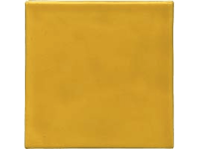 Handmade Ceramic Tile - Color Yellow Strong