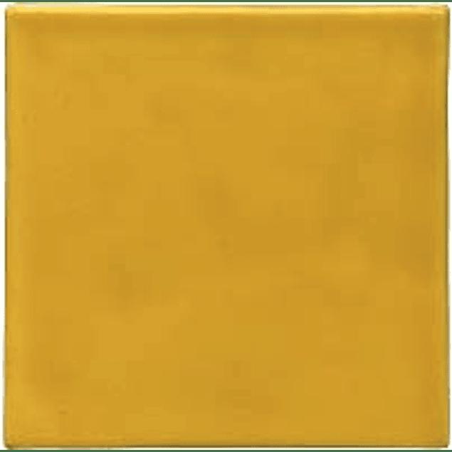 Azulejo feito à mão - Cor Amarelo Forte