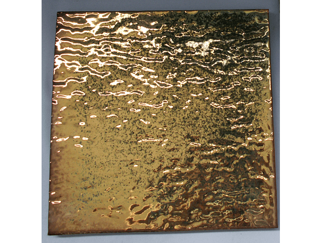 Hand made ceramic tile - Color Gold