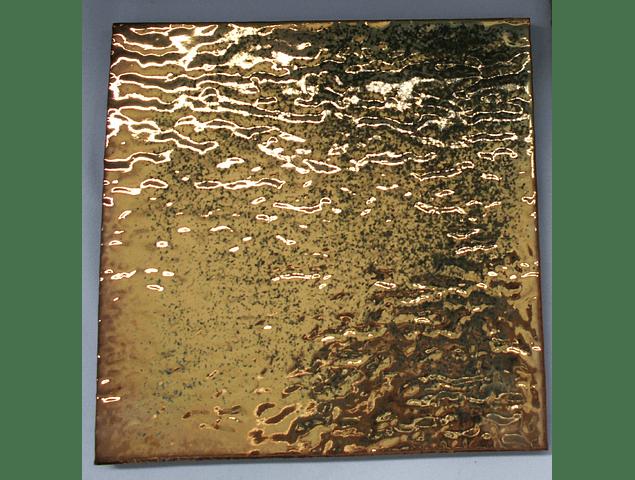 Azulejo feito à mão - Cor  Ouro