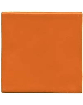 Carreau de céramique fait à la main - Couleur Orange