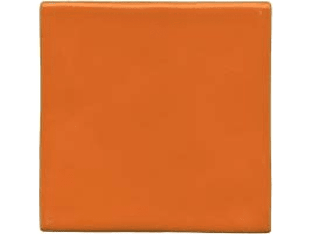 Hand made ceramic tile - Color Orange