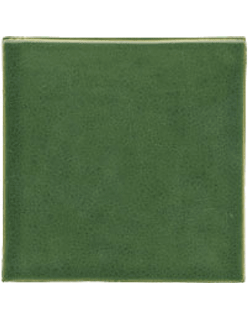 Hand made ceramic tile - Color Medium Green