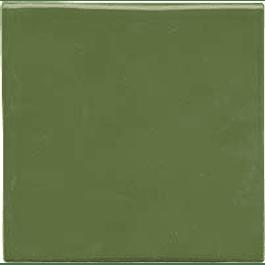 Azulejo feito à mão - Cor  Verde Folha