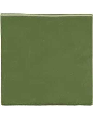 Handmade Tile - Color Green Leaf