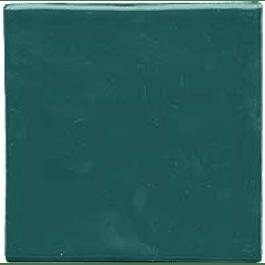 Azulejo feito à mão - Cor  Verde Petróleo