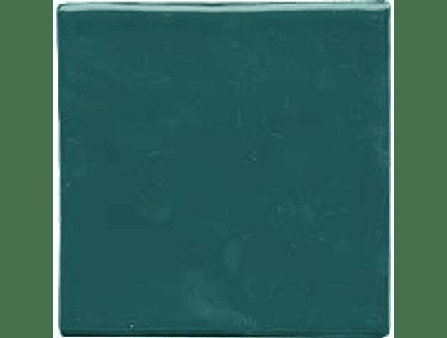 Handmade Tile - Color Green Oil